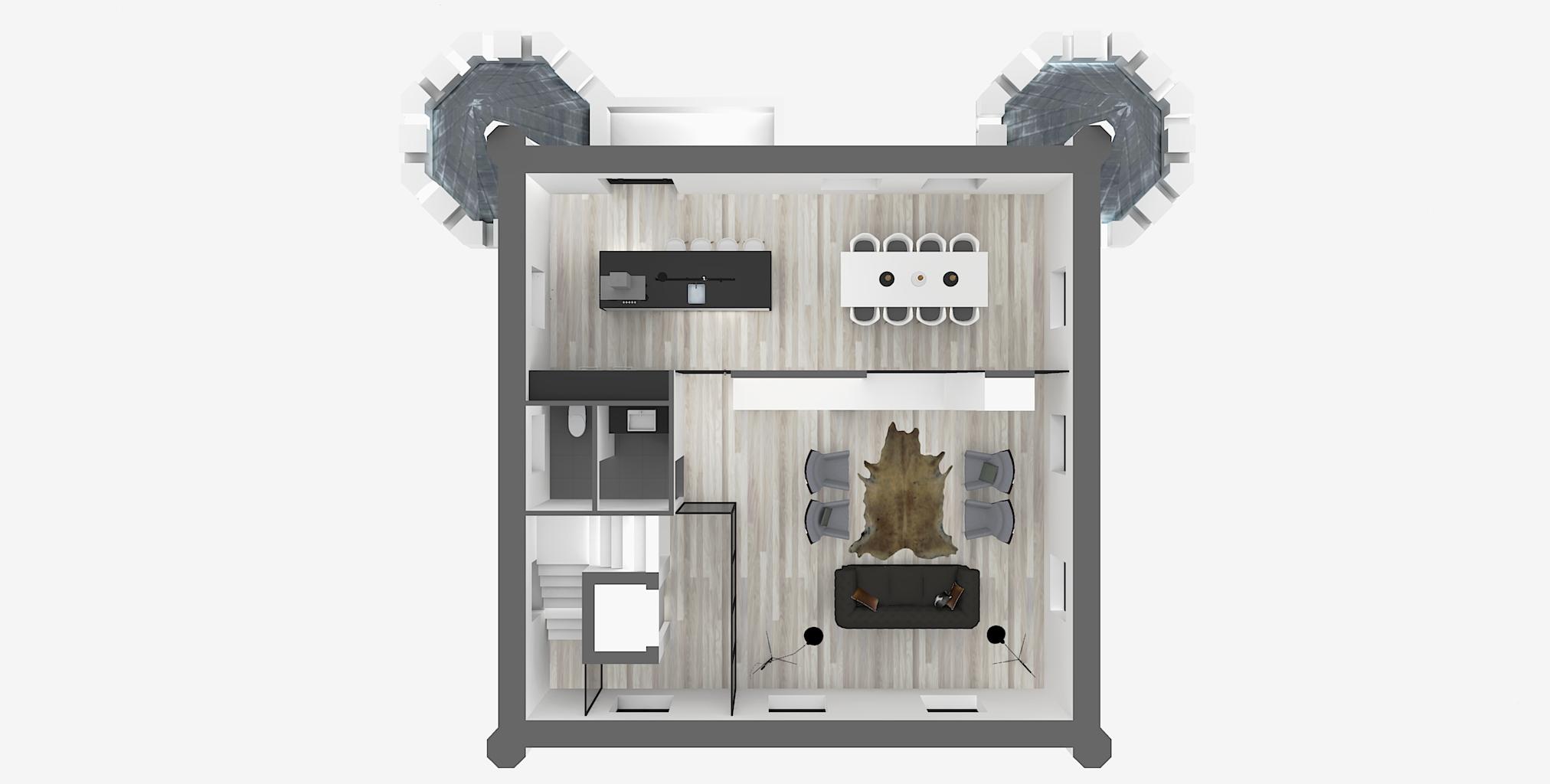 Castle3_3e Floor Plan 3D