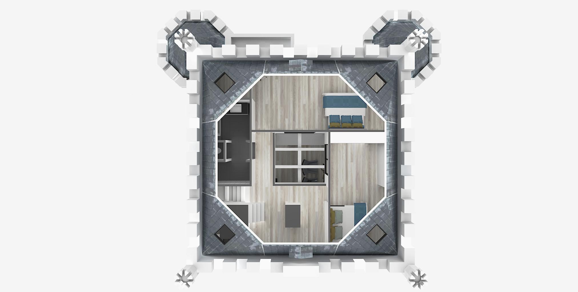 Castle3_4e Floor Plan 3D